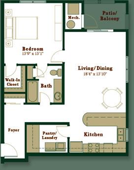 1 Bedroom Apartment Floor Plans With Walk In Closet apartment options and floor plans at westport crossing in